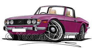 Triumph Stag - Caricature Car Art Print
