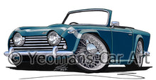 Load image into Gallery viewer, Triumph TR250 - Caricature Car Art Print