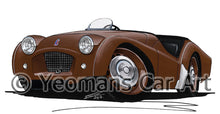 Load image into Gallery viewer, Triumph TR2 (Long Door) - Caricature Car Art Print