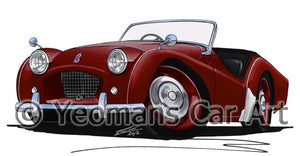 Triumph TR2 (Short Door) - Caricature Car Art Coffee Mug