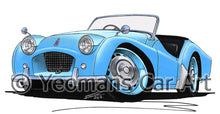 Load image into Gallery viewer, Triumph TR2 (Short Door) - Caricature Car Art Print