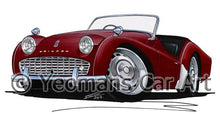 Load image into Gallery viewer, Triumph TR3A - Caricature Car Art Coffee Mug