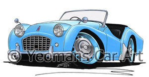 Triumph TR3 - Caricature Car Art Coffee Mug