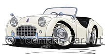 Load image into Gallery viewer, Triumph TR3 - Caricature Car Art Print