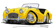 Load image into Gallery viewer, Triumph TR3 - Caricature Car Art Coffee Mug