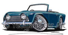Load image into Gallery viewer, Triumph TR5 - Caricature Car Art Print
