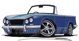 Triumph Vitesse Convertible- Caricature Car Art Coffee Mug
