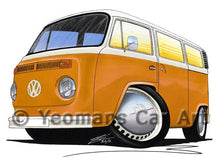 Load image into Gallery viewer, VW Late Bay Window Camper Van - Caricature Car Art Coffee Mug