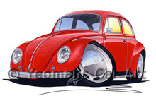 Load image into Gallery viewer, Volkswagen Beetle - Caricature Car Art Print