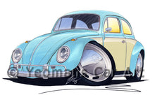 Load image into Gallery viewer, VW Beetle (2-Tone) - Caricature Car Art Print