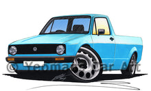 Load image into Gallery viewer, Volkswagen Caddy (Mk1) - Caricature Car Art Print