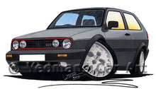Load image into Gallery viewer, Volkswagen Golf (Mk2) GTi - Caricature Car Art Print