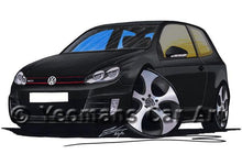 Load image into Gallery viewer, Volkswagen Golf (Mk6) GTi (3dr) - Caricature Car Art Coffee Mug