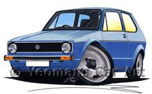 Load image into Gallery viewer, Volkswagen Golf (Mk1) - Caricature Car Art Print