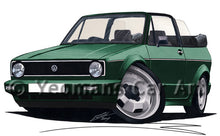 Load image into Gallery viewer, Volkswagen Golf (Mk1) Cabriolet - Caricature Car Art Print
