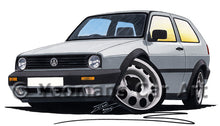 Load image into Gallery viewer, Volkswagen Golf (Mk2) - Caricature Car Art Print
