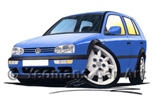 Load image into Gallery viewer, Volkswagen Golf (Mk3) (5dr) - Caricature Car Art Print