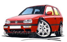 Load image into Gallery viewer, Volkswagen Golf (Mk3) (5dr) - Caricature Car Art Coffee Mug