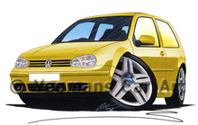 Load image into Gallery viewer, Volkswagen Golf (Mk4) (3dr) - Caricature Car Art Print