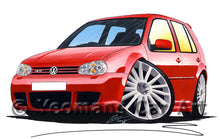 Load image into Gallery viewer, Volkswagen Golf (Mk4) R32 (5dr) - Caricature Car Art Print