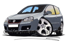 Load image into Gallery viewer, Volkswagen Golf (Mk5) GTi (3dr) - Caricature Car Art Coffee Mug
