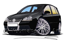 Load image into Gallery viewer, Volkswagen Golf (Mk5) R32 (5dr) - Caricature Car Art Print