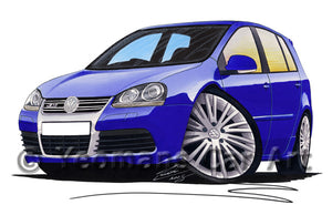 Volkswagen Golf (Mk5) R32 (5dr) - Caricature Car Art Print
