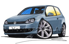 Load image into Gallery viewer, Volkswagen Golf (Mk6) (3dr) - Caricature Car Art Coffee Mug