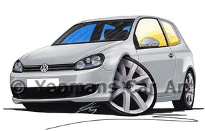 Volkswagen Golf (Mk6) (3dr) - Caricature Car Art Coffee Mug