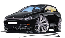 Load image into Gallery viewer, Volkswagen Scirocco (Mk3) - Caricature Car Art Print