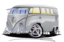 Load image into Gallery viewer, VW Split-Screen (11D) Camper Van - Caricature Car Art Coffee Mug