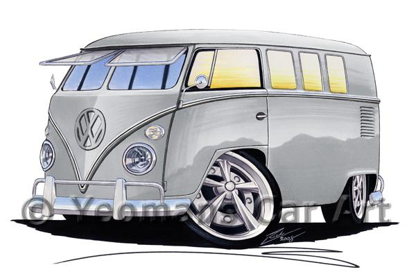 VW Split-Screen (11D) Camper Van - Caricature Car Art Coffee Mug
