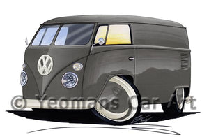 VW Split-Screen Panel Van - Caricature Car Art Coffee Mug