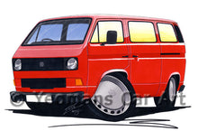 Load image into Gallery viewer, VW T3 / T25 Camper Van - Caricature Car Art Print