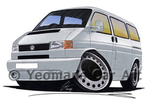 Load image into Gallery viewer, VW T4 Camper Van - Caricature Car Art Print