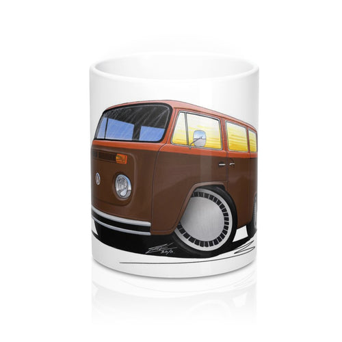 VW Bay Window Camper Van (Yeo-F) - Caricature Car Art Coffee Mug