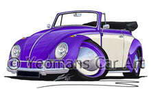 Load image into Gallery viewer, Volkswagen Beetle Cabriolet (2-Tone) - Caricature Car Art Coffee Mug