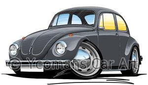 Volkswagen Beetle - Super Beetle - Caricature Car Art Coffee Mug