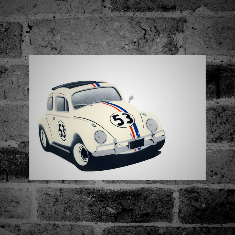 VW Beetle (Herbie) - Stencil Artwork