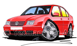Volkswagen Bora - Caricature Car Art Print