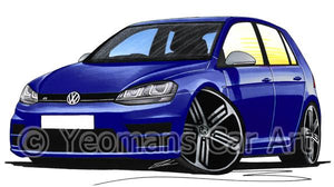 Volkswagen Golf (Mk7) R (5dr) - Caricature Car Art Coffee Mug