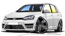 Load image into Gallery viewer, Volkswagen Golf (Mk7) R (5dr) - Caricature Car Art Coffee Mug
