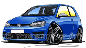 Volkswagen Golf (Mk7) R (3dr) - Caricature Car Art Coffee Mug