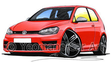 Load image into Gallery viewer, Volkswagen Golf (Mk7) R (3dr) - Caricature Car Art Coffee Mug
