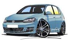 Load image into Gallery viewer, Volkswagen Golf (Mk7) (5dr) - Caricature Car Art Coffee Mug