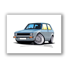 Load image into Gallery viewer, Volkswagen Golf (Mk1) (Yeo-A) - Caricature Car Art Print