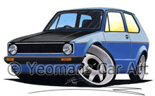 Load image into Gallery viewer, Volkswagen Golf (Mk1) (Yeo-B) - Caricature Car Art Coffee Mug