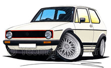 Load image into Gallery viewer, Volkswagen Golf (Mk1) GTi (Yeo-C) - Caricature Car Art Print