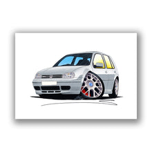 Load image into Gallery viewer, Volkswagen Golf (Mk4) GTi (5dr) - Caricature Car Art Print