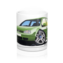 Load image into Gallery viewer, Volkswagen Golf (Mk4) (3dr) - Caricature Car Art Coffee Mug